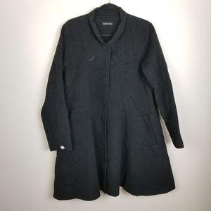 Eileen Fisher diamond rhinestone button coat